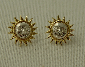 Sergio Bustamante Dart Sun Earrings