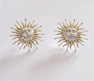 Sergio Bustamante Fiery Sun Earrings Large