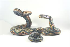 Fimo Creations by Jon Anderson Rattlesnake Mama Family