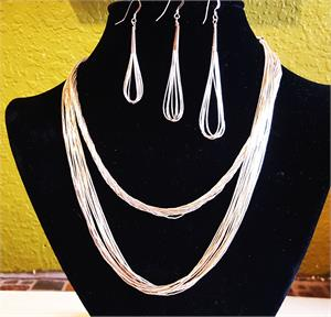 "Liquid Silver Necklace 18""-20"""