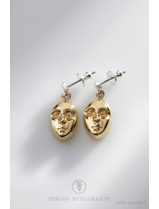 Sergio Bustamante Vienna Gold Earrings