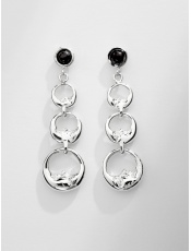 Sergio Bustamante Three Moon Link Earrings