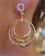Sergio Bustamante Triple Moon Earrings