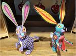 Oaxacan Wood Carving Rabbits